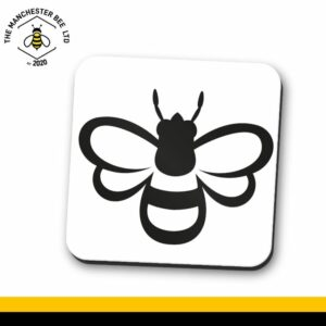 Manchester Icon Bee Single Drinks Coaster