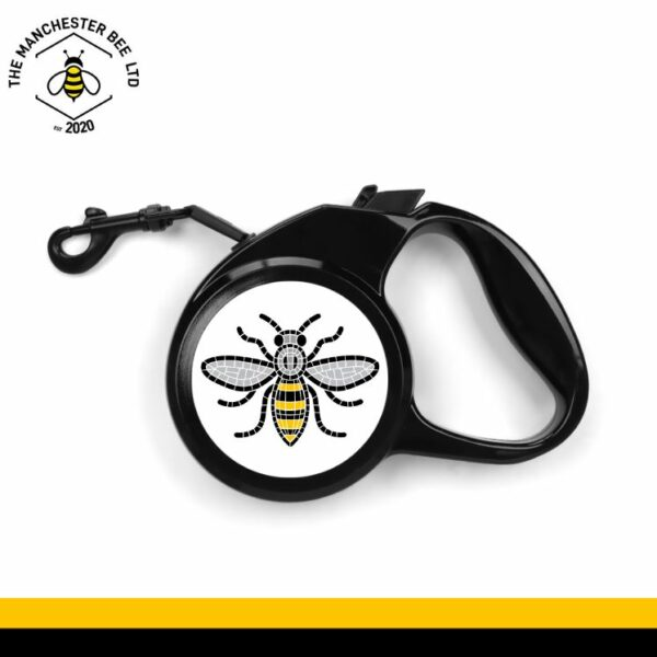 Manchester Mosaic Worker Bee Retractable Dog Lead - Large