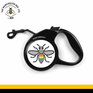 Manchester Pride Mosaic Worker Bee Retractable Dog Lead - Large
