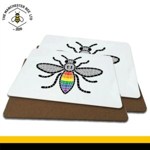 Manchester Pride Worker Bee Grey Wings Luxury Placemats