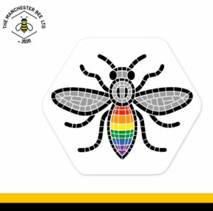 Manchester Pride Worker Bee Hexagon Coaster