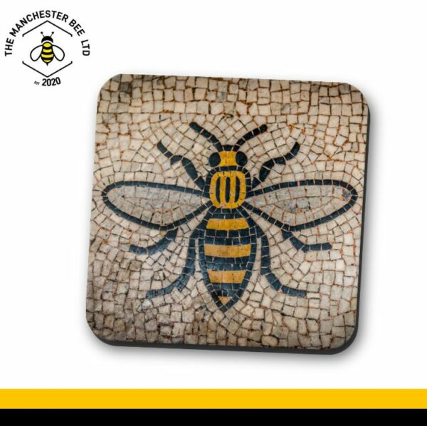 Manchester Town Hall Mosaic Bee Single Drinks Coaster