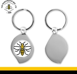 Manchester Worker Bee Teardrop Keyring
