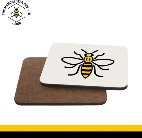 Manchester Worker Bee Single Drinks Coaster