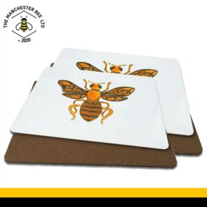 Orange Worker Bee Luxury Placemats