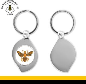 Orange Worker Bee Teardrop Keyring