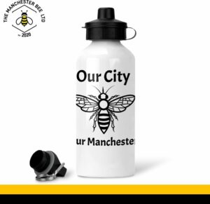Our City Our Manchester White Aluminium Sports Bottle
