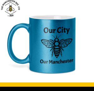 Our City Our Manchester Glitter Mug Blue