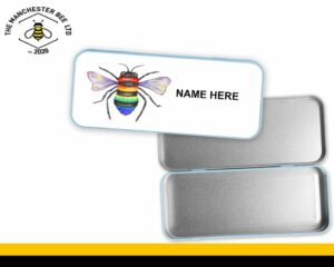 Personalised Rainbow Key Worker Bee Pencil Tin