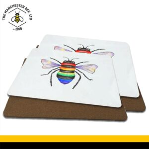 Rainbow Key Worker Bee Luxury Placemats