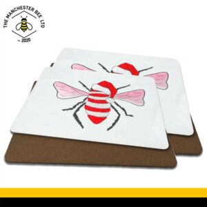 Red Christmas Bee Luxury Placemats