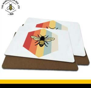 Retro Worker Bee Luxury Placemats