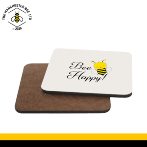Bee Happy Single Drinks Coaster