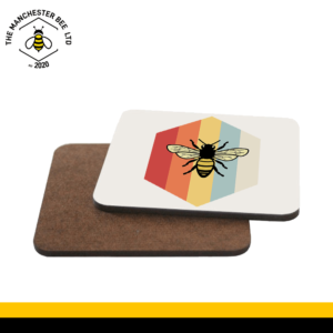 Retro Bee Single Drinks Coaster