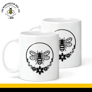 Round Wreath Bee Ceramic Mug