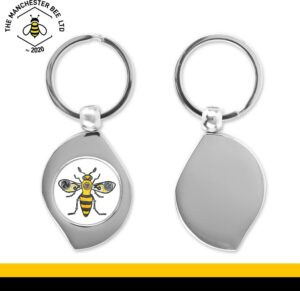 Steampunk Worker Bee Teardrop Keyring