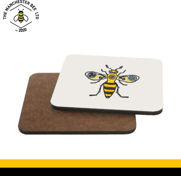 Steampunk Worker Bee Single Drinks Coaster