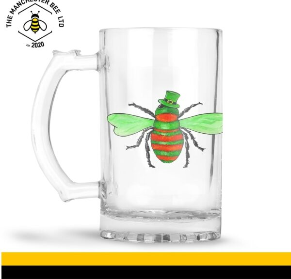Irish Bee Large Beer Glass