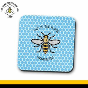 Blue Honeycomb This Is The Place Bee Single Drinks Coaster