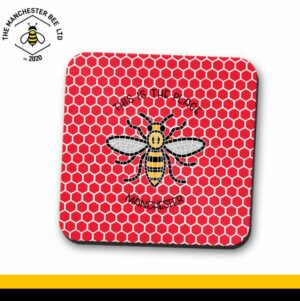 Red Honeycomb This Is The Place Bee Single Drinks Coaster