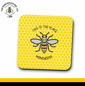 Yellow Honeycomb This Is The Place Bee Single Drinks Coaster