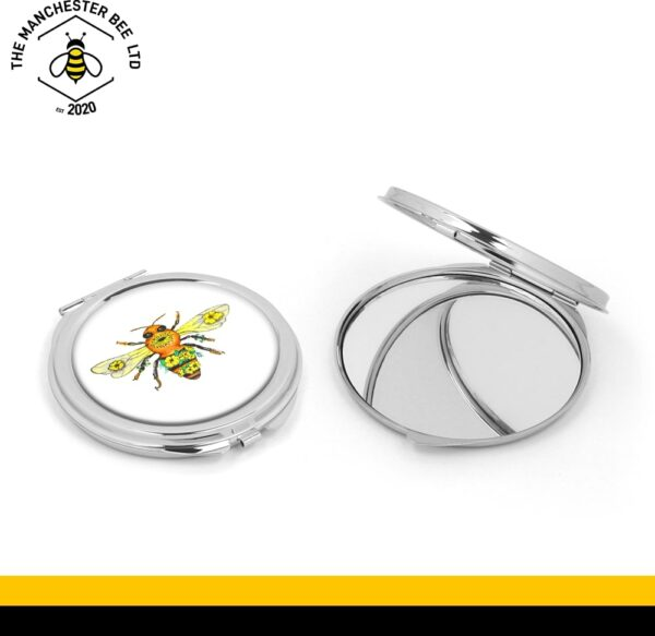 Manchester Worker Bee Silver Compact Mirror