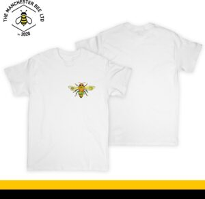 Yellow Floral Worker Bee Crew Neck T-Shirt