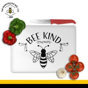 Bee Kind Print Large Rectangle Chopping Board
