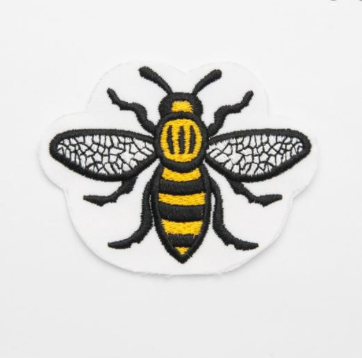 Manchester Worker Bee Sew On Patch Badge