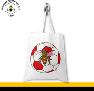 Red Football Worker Bee Jersey Tote Bag