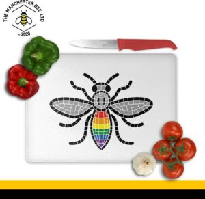 Manchester Pride Worker Bee Large Rectangle Chopping Board