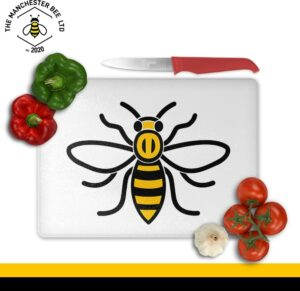 Manchester Worker Bee Large Rectangle Chopping Board