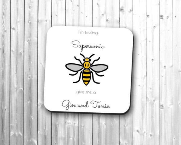 Manchester Worker Bee Gin And Tonic Single Drinks Coaster