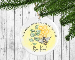 In A World Bee King Watercolour Ceramic Decoration