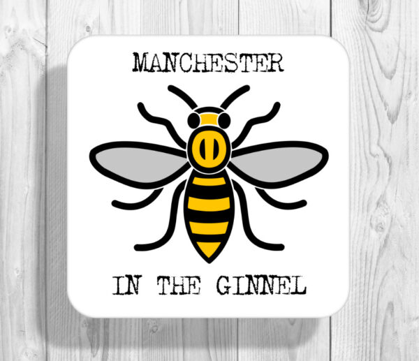 In The Ginnel Madchester Manchester Bee Drinks Coaster