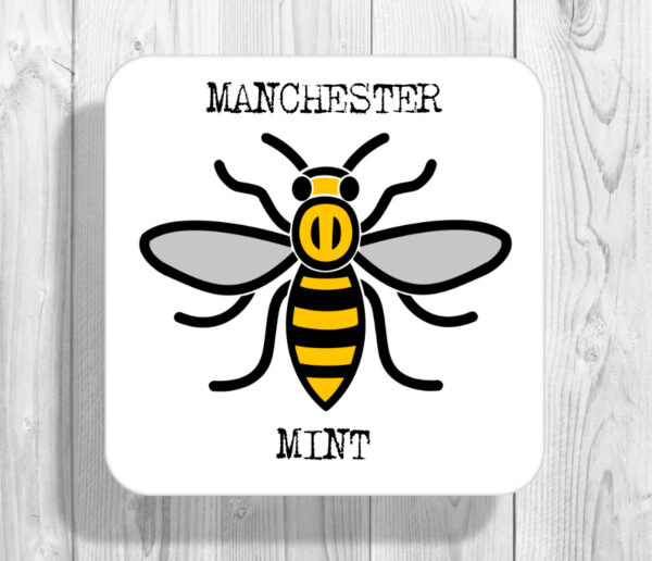 Mint Madchester Manchester Bee Drinks Coaster