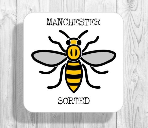 Sorted Madchester Manchester Bee Drinks Coaster