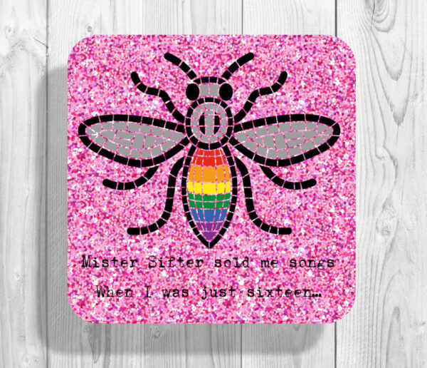 Mr Sifter Sold Me Songs Pink Manchester Bee Coaster