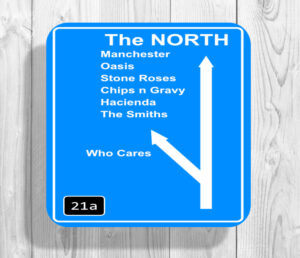 The North Manchester Themed Drinks Coaster